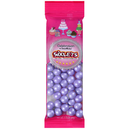 Celebration Shimmer Lavender Sixlets Candy, 1.75 oz