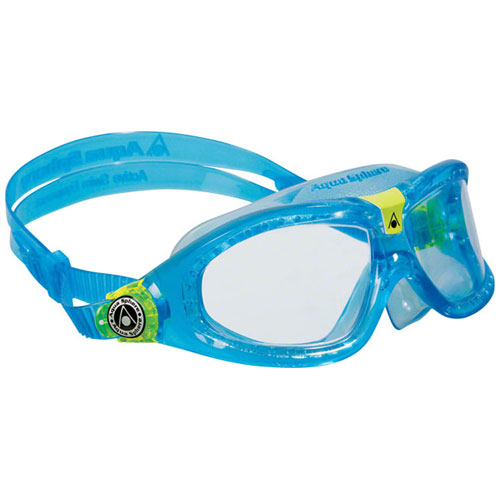 Seal Kid Blue Goggles, Clear Lens