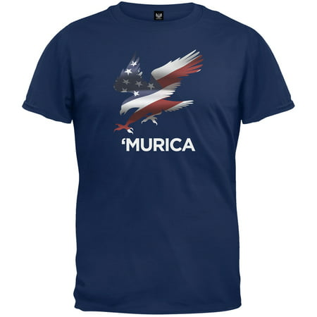 4th of July Murica Eagle Navy T-Shirt - Fourth Of July Food Ideas