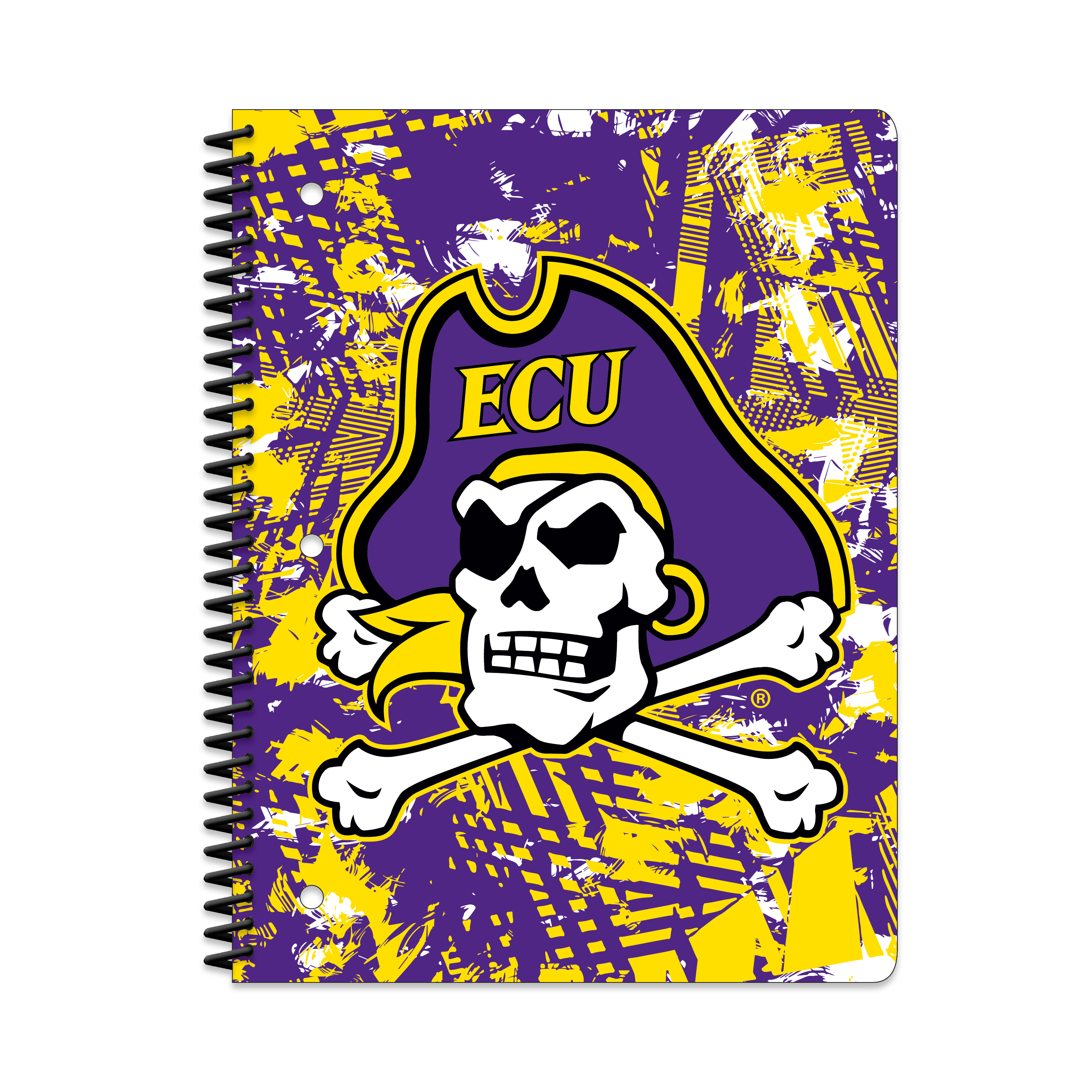 E CARO PIRATES ACTIVE STATIC 1-SUBJECT NOTEBOOK