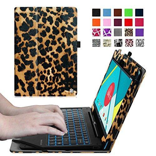 "Fintie Nextbook Ares / Nextbook Flexx 11.6"" Case - Premium PU Leather Folio Cover With Stylus Holder, Leopard Brown"