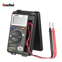 RuoShui Portable Pocket 3999 Counts Auto Range True RMS Multi-functional Digital Multimeter DMM Voltmeter Ohmmeter with DC AC Voltage Meter Resistance Diode