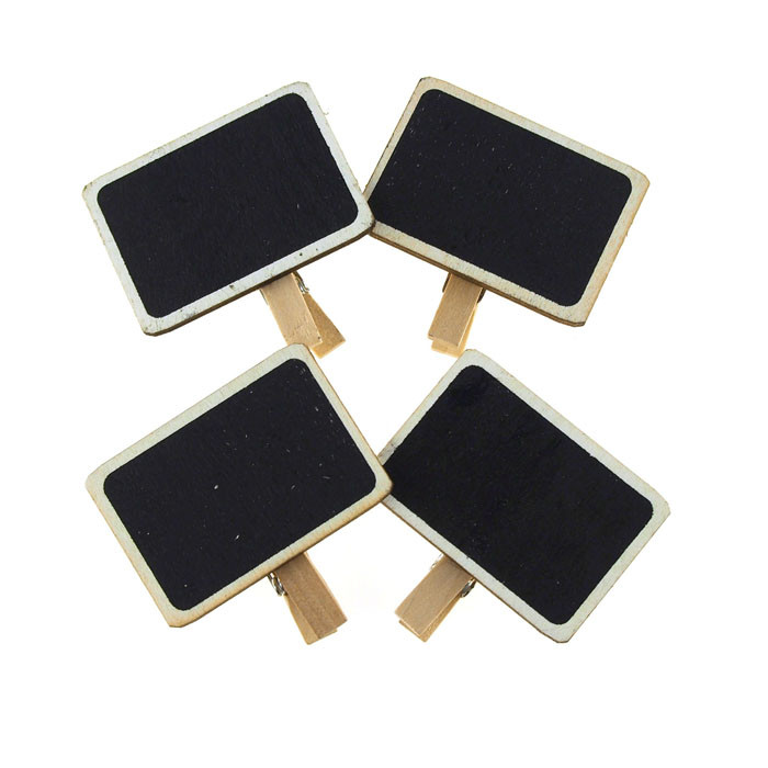 Chalkboard Tag Clothespins, Rectangle, 2-inch, 4-Piece