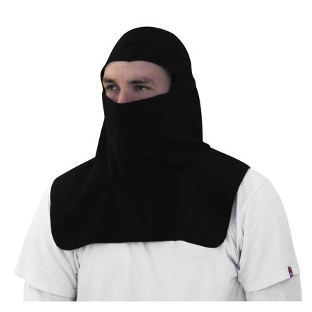 Zan Headgear Fleece Balaclava with Spandex Crown (Black, OSFM) ()