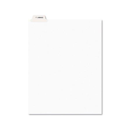 Avery-Style Preprinted Legal Bottom Tab Divider, Exhibit J, Letter, White, -