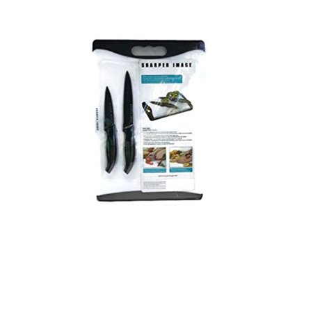 the sharper image non-skid cutting board with nonstick paring and utility knives, assorted (The Sharper Image In Home Professional Garment Steamer)