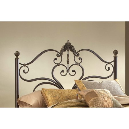 Hillsdale Furniture Newton Queen Headboard with Frame, Antique Brown ()