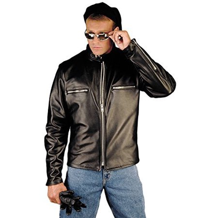 Reed Men's Naked Cow Leather Motorcycle Jacket 6XL