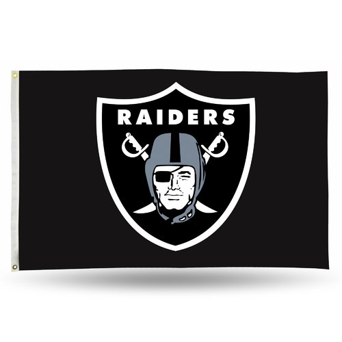 Rico Industries NFL 3' x 5' Banner Flag, Oakland Raiders