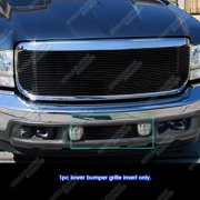 Fits 99-04 Ford F250/F350/2000-2004 Excursion Bumper Black Billet Grille