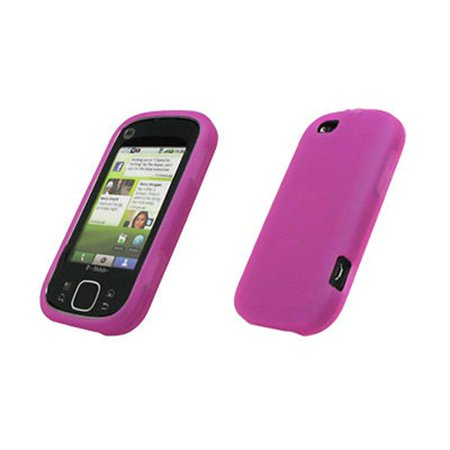 Skin Accessory Package (Premium Hot Pink Silicone Gel Skin Cover Case for Motorola CLIQ XT / Quench [Accessory Export Brand Packaging])