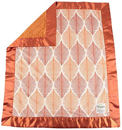 "My Blankee Oregon Minky w/ Minky Dot Mandarin Baby Blanket, 30"" x 35"""