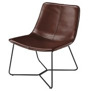 Zuma PU Leather Accent Chair - Mission Brown