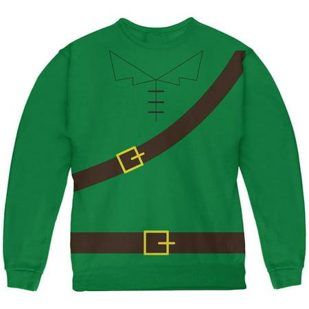 Halloween Robin Hood Costume Green Youth Sweatshirt](Green Day Halloween Song)