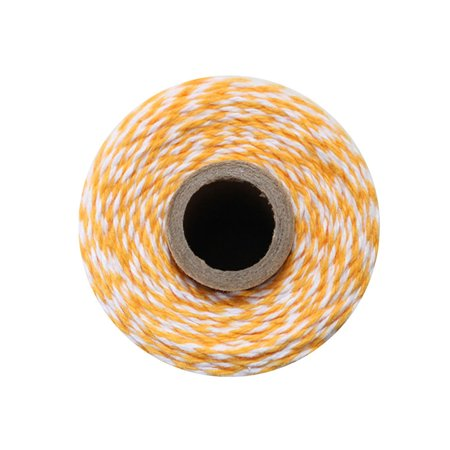 - Luna Bazaar Marigold Yellow Striped Baker's Twine 110 Yards