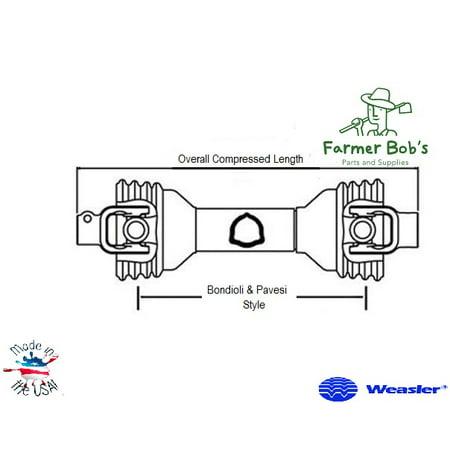 "14006135 Complete Driveline 35"" 1-3/8"" 6 Spline w/ QD Lock, both ends 35"" Farmer Bob"