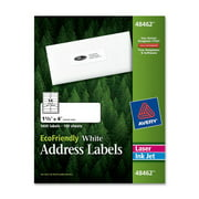 "Avery Ecofriendly Name Badges - 2.38"" Width X 3.33"" Length - 400 / Box - Rectangle - 8/sheet - Laser, Inkjet - White (45395)"