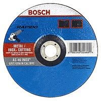 Rapido TCW27S500 Depressed Center Thin Type 27A Cutting Wheel, 5 in Dia x 0.04 in T, 60 Grit, 7/8 in