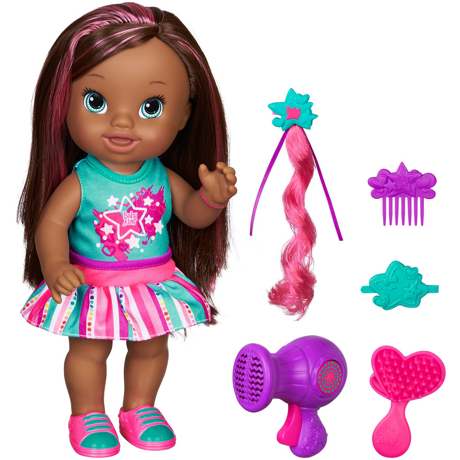 Baby Alive Play 'n Style Christina Doll, African American