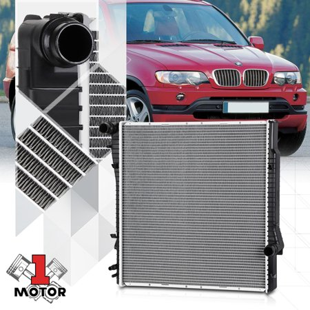 Bmw Radiator Support (Aluminum Core Cooling Radiator OE Replacement for 01-06 BMW X5 3.0 AT dpi-2594 02 03 04 05)