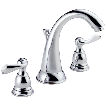 Chrome Widespread Sink (Delta Windemere Two Handle 8 in. Widespread Lavatory Faucet in Chrome B3596LF )