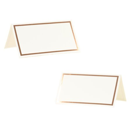 Koyal Wholesale Placecard Rose Gold Foil Border Table Tent Cards in Bulk 100-Pack, Dinner Party Seating, Food Catering - Promo Code For Wholesale Party Supplies