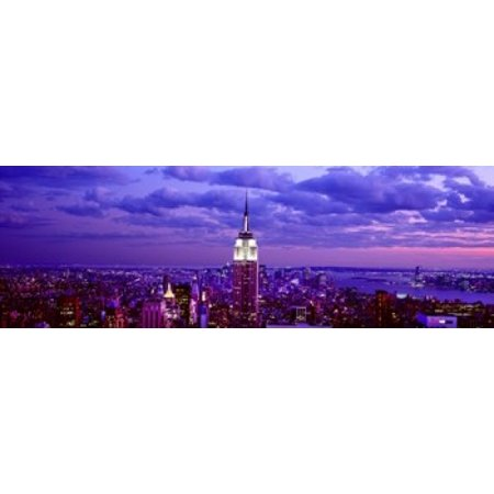 Aerial view of a city Rockefeller Center Midtown Manhattan Manhattan New York City New York State USA Canvas Art - Panoramic Images (18 x - Midtown Party City
