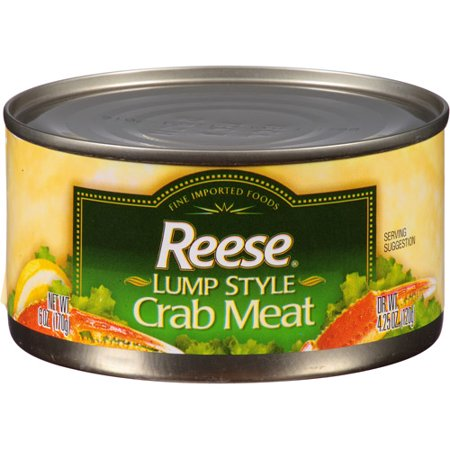 Reese Lump Style Crab Meat, 4.25 oz, (Pack of 12) Frozen Crab Meat