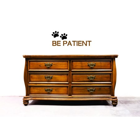 """Wall Design Pieces Be Patient Animal Dog Paw Print 8x20"""""""