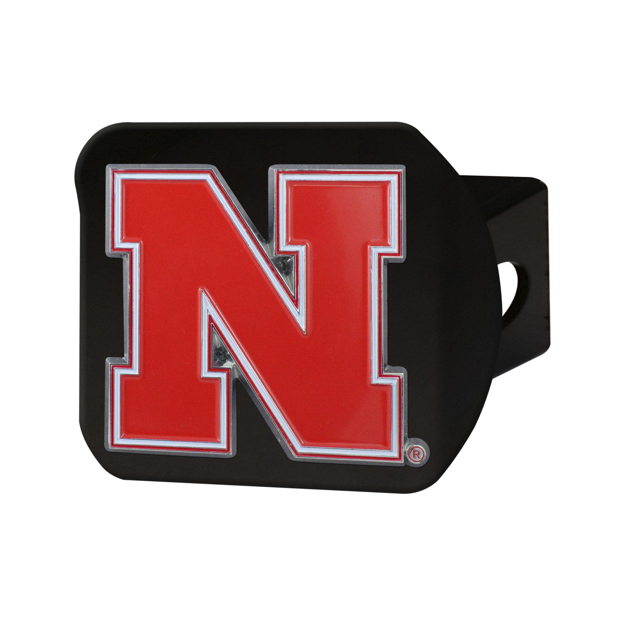 """University of Nebraska Color Hitch Black 3.4""""x4"""""""