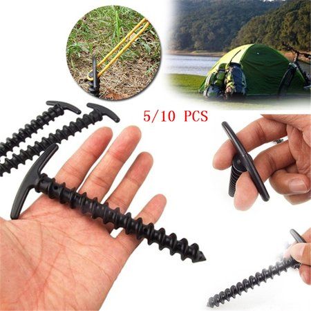 5/10 PCS Plastic Nylon Screw Spiral Nail Outdoor Tent Stakes Nail for Camping Hiking