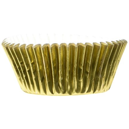 Fox Run Gold Foil Mini Party Bake Cups Candy Cupcakes Cake Muffin Liners 48 Pack