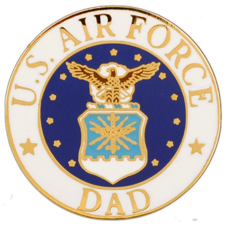 US Air Force Emblem Dad Military Lapel Pin