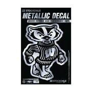 """Wisconsin Badgers 3"""" x 5"""" Metallic Window Decal"""