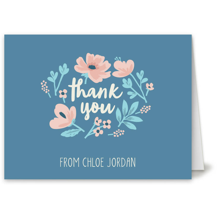 Thankful Florist Thank You Card
