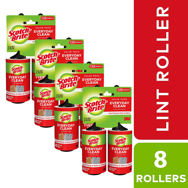 Scotch-Brite 30 Sheet Lint and Fluff Roller Pack of 1