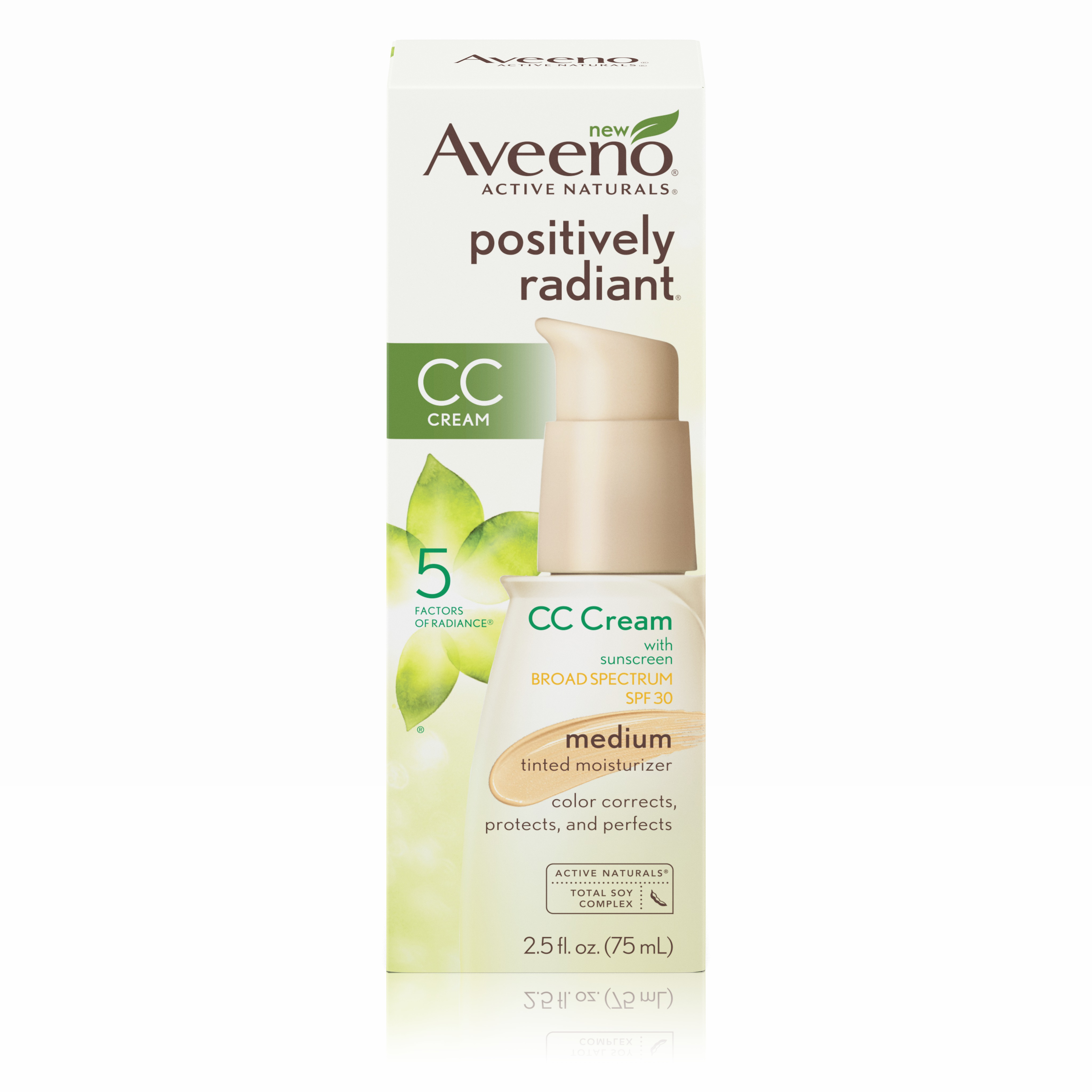 Aveeno Positively Radiant CC Cream Broad Spectrum Spf 30 Medium, Skin Color Correction,... by Johnson & Johnson
