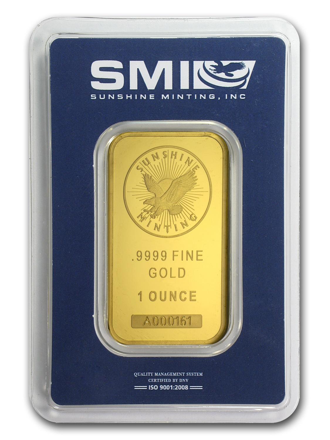 1 oz Gold Bar - Sunshine New Design (In TEP Packaging)