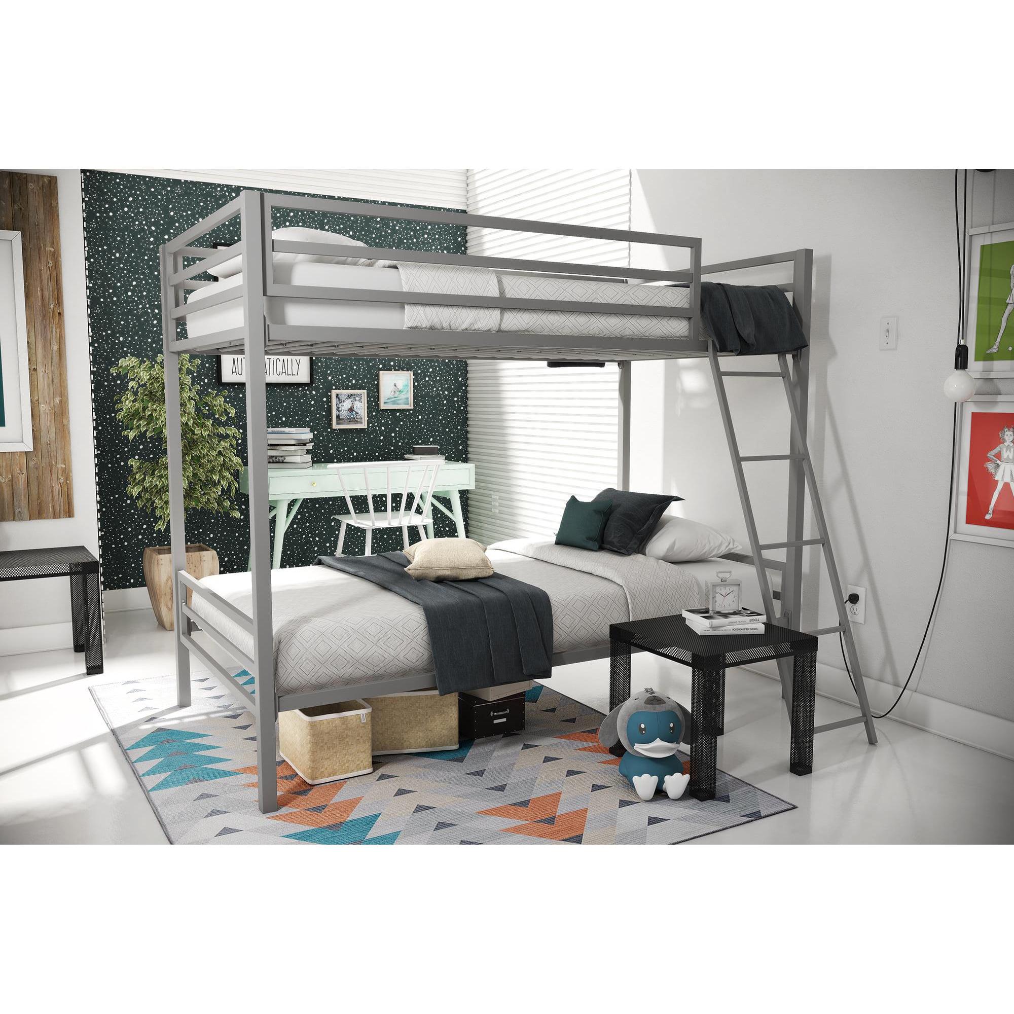 Novogratz Maxwell Twin/Twin Metal Bunk Bed, Multiple Colors
