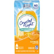 (60 Packets) Crystal Light with Caffeine On-the-Go Citrus Drink Mix, 0.09 oz