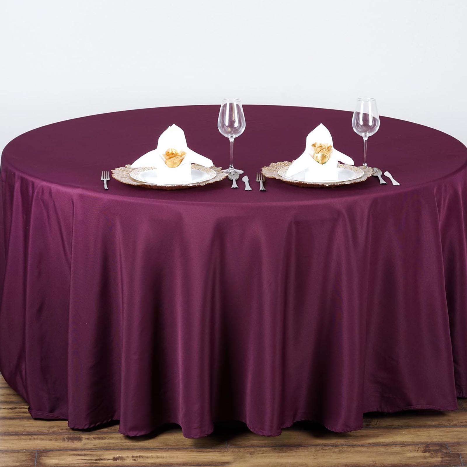 "Efavormart 90"" Round Polyester Tablecloth for Kitchen Dining Catering Wedding... by"