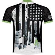 Primal Wear Merica Men's Cycling Jersey: White/Black, LG