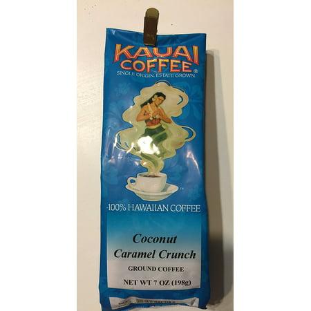 Kauai Coffee Company Coconut Caramel Crunch Ground Coffee 7 oz. 100% Hawaiian Grown