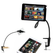 Costech Universal Fashion Flexible Gooseneck Long Arm Tablet Stand 360-degree Rotating Clip-on Mount for Ipad Mini, Ipad Air, Samsung Tablet (Black)