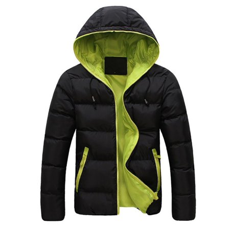 Ski Snowboard Jacket Pants (OUMY Mens Winter Warm Cotton Down Jacket Ski Snow Thick Hooded Puffer Coat)