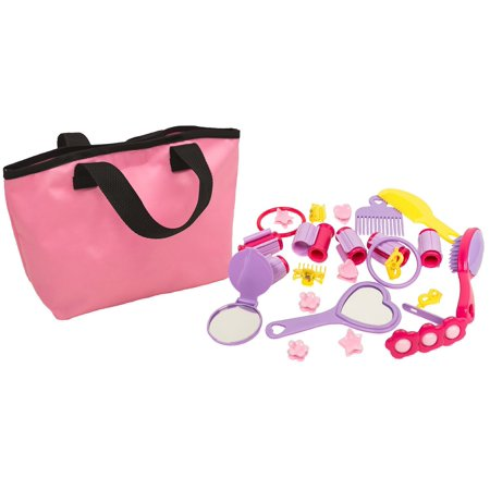 Girls beauty play & dress up set with tote - 25pcs