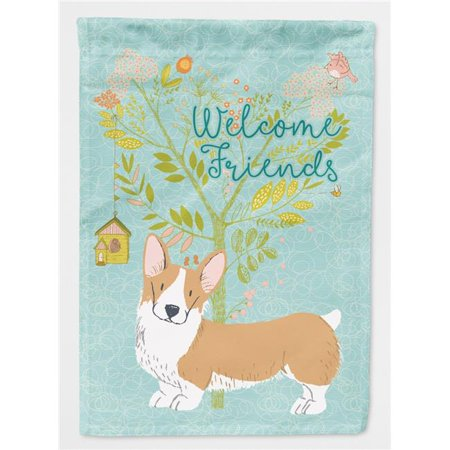 Carolines Treasures BB7608CHF Welcome Friends Pembroke Welsh Corgi Red Flag - Canvas House Size - image 1 of 1
