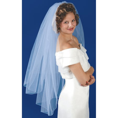 Wilton Double Layer Bridal Veil, White 120-027