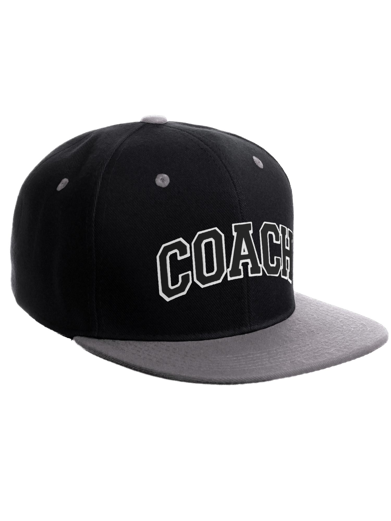 Sport Team Coach Snapback Custom 3D Layer Coach Arch Letters Flat Bill Hat  Cap - Walmart.com 03f7a8d01657