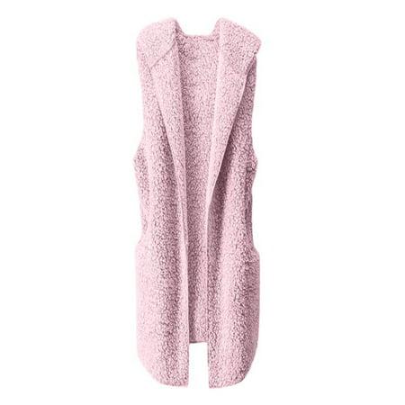 Iuhan Womens Vest Winter Warm Hoodie Outwear Casual Coat Jacket